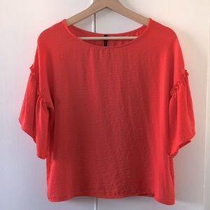 ☀️ Coral blouse by Amanda Green